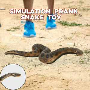 Creative Realistic Fake Rubber Toy Snake Brown Fake Snakes Preschool Fun Toys