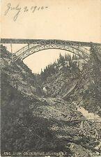 1907-1915 Lithograph Postcard; Stony Creek Bridge Trestle Selkirks BC Canada