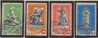 Switzerland Stamps Scott #B100 To B103, Used