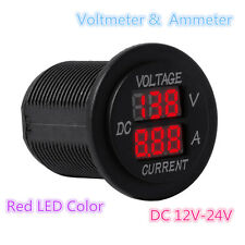 Digital Voltmeter 12-24V Red LED Car Motor Voltage Ammeter Panel Meter Tester