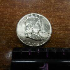 NINE 1950-D MS/UNC Franklin Half Dollar COIN 90% silver 50c,