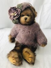 "The Bearington Collection Stuffed Plush Articulated Bear 14"" Mohair Sweater Hat"