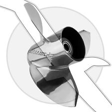 Stainless Steel 17 Pitch Propeller SS Boat Prop OMC Cobra Johnson Evinrude