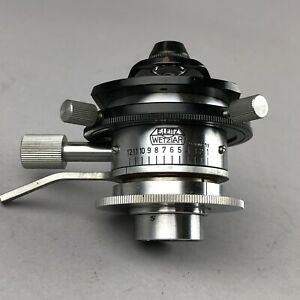LEITZ Microscope Berek Two Diaphragm Brightfield Condenser 76 for Ortholux &More