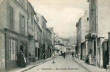Carte CACHAN Rue Camille Desmoulins Couple de bouchers sur rue