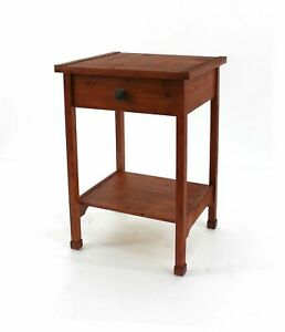 """15"""" x 18"""" x 24"""" Cherry, 1 Drawer, Rustic Wooden - Accent Table"""