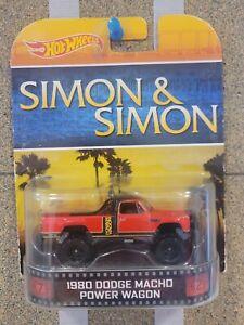 Hot Wheels 1980 DODGE POWER MACHO WAGON RED SIMON AND SIMON RETRO ENTERTAINMENT