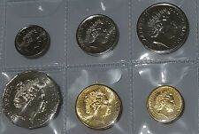 2015 Unc or better 6 coin set 5 cent 10c 20c 50 c $1 roo $2 Ab elder ex bags