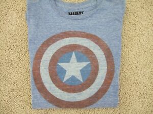 Superhero Marvel Captain America Shirt Boys Girls Halloween Costume Size XL EUC