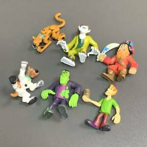 6X Scooby Doo Mystery Mates Shaggy Wolfman Pirates Frankensteion Monsters Toys