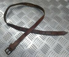 Genuine Vintage Military Leather Alpine Pack / Utility Strap / Brown Pack Strap
