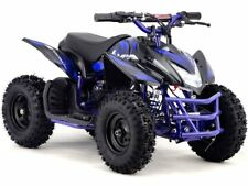 24V Blue Electric Battery Four Wheeler Boys Girls Kids Mini ATV Dirt Bike Titan