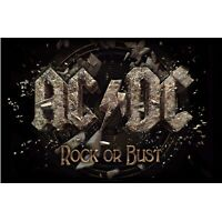 AC/DC Rock Or Bust Poster Flag Official Fabric Premium Textile ACDC AC-DC New