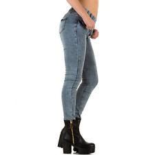 Markenlose Stonewashede Damen-Jeans im Jeggings/Stretch-Stil
