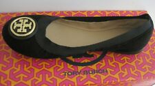 BRAND NEW  IN THE  BOX TORY BURCH CAROLINE 2 BLACK SUEDE BALLET FLAT  SIZE 9