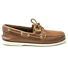 New Mens Sperry Top-Sider Tan Whisper Leather Shoes Boat Lace Up