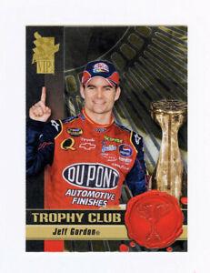 Jeff Gordon 2008 08 Press Pass VIP Trophy Club All Embossed Foil Insert Card TC9