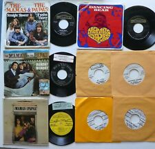 MAMAS and The PAPAS Lot of 11x45rpm Singles EP's, promos, Pic sleeves  CtLot304