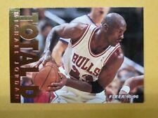"""Michael Jordan Chicago Bulls HOF 1995-96 Fleer """"TOTAL D"""" Foil Insert 🏀👀🔥"""
