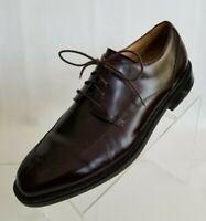 Rockport Oxford Apron Split Toe Mens Brown Leather Lace Up Shoes Size 10
