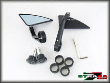 Strada 7 Black Triangle Handle Bar End Mirrors Honda CBR300R CBR250R GROM MSX125