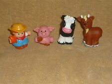Fisher Price Little People Farm Lot: Farmer Jed, Black Cow, Goat & Pig