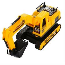 LED Excavator Track Digger Construction Diecast Model Scale Tractor Toy Kids