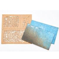 Per 1/35 1/48 1/72 Model DIY Spray Paper Weathering Airbrush Stencils Utensili Z