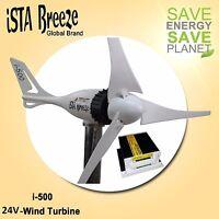 SET 24V i-500 PLUS,WINDGENERATOR + LADEREGLER,WHITE, WINDTURBINE iSTA-BREEZE®