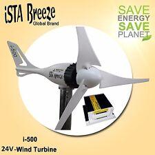 Set 24v i-500 Plus, Generador de Viento + Controlador carga, White, turbina