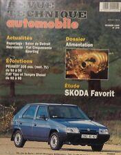 SKODA FAVORIT REVUE TECHNIQUE RTA 570 1995 PEUGEOT 205 FIAT TEMPRA / TIPO DIESEL