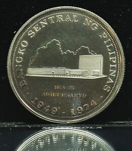 1974 Bangko Sentral Ng Pilipinas 25 Piso Silver Coin - lot#2