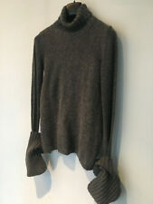 Ann Demeulemeester, grey pull with turtleneck and very long sleeves, size 38