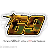"NICKY HAYDEN 69 Camouflage MotoGP 75mm (3"") Sticker Decal Aufkleber Adesivo"