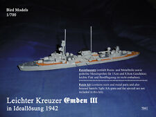 Kreuzer Emden III solución ideal 1942 1/700 Bird models resinbausatz/resin Kit