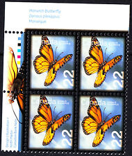 Canada 2014 Monarch Butterflies Corner Block of 4 - Insects - MNH