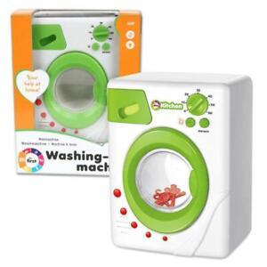 Kaiming Toys Kinder Waschmaschine Weiß Grün mit Waschfunktion Licht Sound