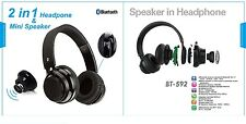 Bluetooth Headphones + Bluetooth Speaker (2 in 1) New Hi-Fi Wireless Headphones
