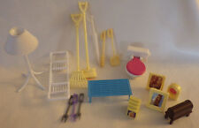 "18 Barbie ? Broom Rake Toilet Dish Rack Girls Doll Pretend Play 5"" - 6"" Toys"