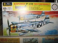 Vintage Fujimi Mokei 1:72 Republic P-47D Thunderbolt Wwii Plane Model Kit