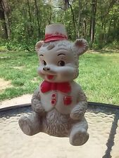 Rubber Squeak Toy Bear Edward Mobley Arrow Rubber And Plastic Co Vintage 1960s