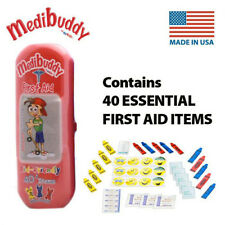 Medibuddy Children's Kids First Aid Travel On The Go Kit - 40 Items - RED