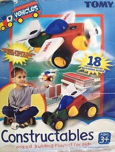 TOMY Constructables Motorized Building Vehicles Complete