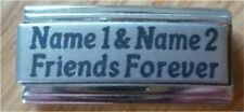 Italian Charms Custom Made Personalised Name  Names Friends Forever
