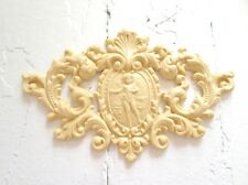 Antique Architectural Crest Reproduction Furniture Applique - Wood & Resin