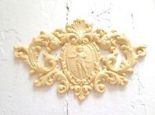 Antique Architectural Crest Reproduction Furniture Applique - Wood & Resin