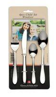 Grunwerg Stainless Steel 4 Piece Children Child Cutlery Set