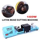 150W 110V Mini Lathe Beads Polisher Machine Wood Woodworking Rotary DIY Kit