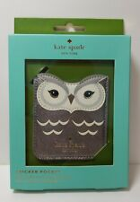 $38 Kate Spade Owl Sticker Pocket NEW IN BOX Rare Find