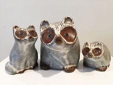 Pigeon Forge Pottery Douglas Ferguson Raccoon Family